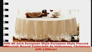 halloween tablecloth hse 80 inch european style european style pierced tablecloth round