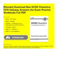 calaméo new gcse chemistry ocr