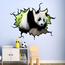 panda bear wall decal panda wall sticker hole in the wall art vwaq panda bear wall decal panda wall sticker hole in the wall art vwaq wc26 what s it worth