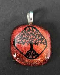 jewelry for ashes of loved one cremation ashes pendant for loved one or pet tree of fused