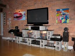 console table tv stand furniture tv stand with bookshelves and shelf for soundbar home