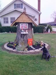 Pictures Of Tree Stump Decorating Ideas Fairy House From Tree Stump Tree Stump Decorations Pinterest