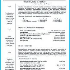 images about art teacher resume templates visual arts cover letter
