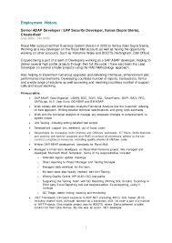sap security resume sap security consultant sample resume