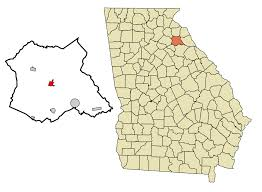 Map Georgia Usa by Danielsville Georgia Wikipedia