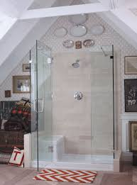Painted Laminate Flooring Glass Walls Without Frame With Stainless Handle And Shower Head