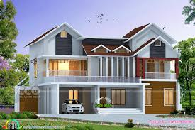 Kerala Home Design Kozhikode by Awesome Mixed Roof 2800 Sq Ft Home Kerala Home Design And Floor