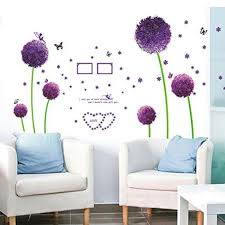 compare prices on baby dandelion online shopping buy low price new wall sticker bedroom living room purple dandelion wall stickers decals baby room bedroom art sticker