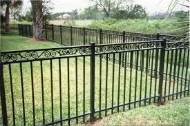 black classic elegance of wrought iron gate designs for green