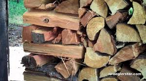 how to stack firewood without supports youtube