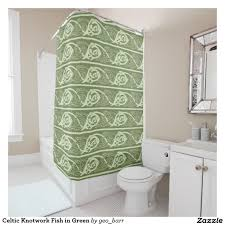 Paisley Shower Curtain Blue by Celtic Knotwork Fish In Green Shower Curtain Unique Shower