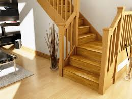 Wooden Stair Banisters Stair Stair Design Idea With Oak Wood Treads And Handrail Also