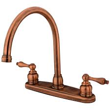 kingston brass kb726alls victorian gooseneck kitchen faucet