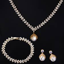 pearl setting necklace images 48 necklace or earrings 18kt gold diamond necklace set dins5006 jpg