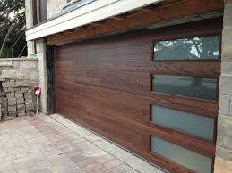 garage doors and gates contemporary wood door with right off set