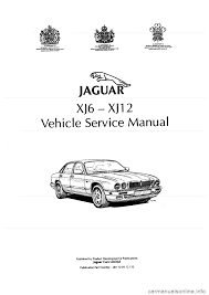 jaguar xj6 1994 2 g workshop manual second edition