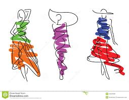 fashion sketch poses royalty free stock photos image 34629698