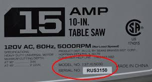 Craftsman Portable Table Saw Craftsman Portable Table Saws Made By Rexon Recalled Due To