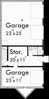 Narrow Lot Duplex Floor Plans by Duplex House Plans Stacked Duplex Plans D 493