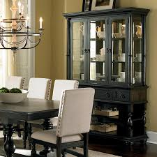 steve silver leona cottage antique black buffet u0026 hutch with