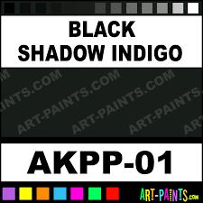 black shadow indigo opaque watercolor paints akpp 01 black