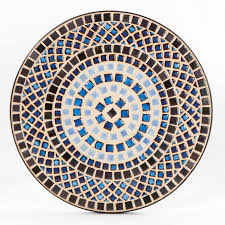 Small Mosaic Patio Table by Dining Room Burly Wood Mosaic Bistro Table On Tile Floor For