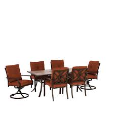 living accents wesley 7 piece dining set all patio collections