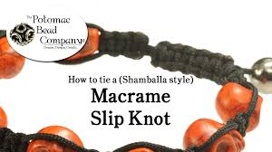 bracelet knots youtube images How to tie a macrame shamballa style slip knot closure jpg