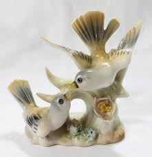 Animal Figurines Home Decor by Vintage Lenwile China Ardalt Bird Figurines Japan Robin 6185 Home