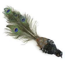 peacock bird ornament