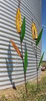Garden Metal Decor Metal Corn Stalk Garden Stake Yard Decor