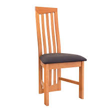 modern high back dining chairs natural cherry handmade in
