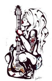 Bass Guitar Tattoo Ideas Cartoons Girls With Guitars Guitar Tattoo By Gamerextremer On