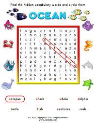 ocean activities games and worksheets for kids