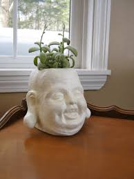 Large Head Planters Buddha Head Planter Concrete Plant Pot Cement Planters