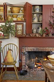 primitive colonial home decor 26 best christmas home tours houses decorated for christmas