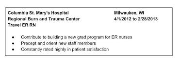 sample er nurse resume sample nursing resume examples in word er