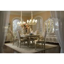 michael amini lavelle blanc 9pc oval dining table set by aico for