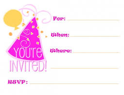 free printable birthday party invitations for adults and kids
