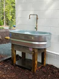 Garden Sink Ideas Stock Tank Sink Pallet Wood Base Pallets Pinterest Stock