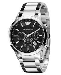 armani steel bracelet images Emporio armani watch men 39 s chronograph stainless steel bracelet tif