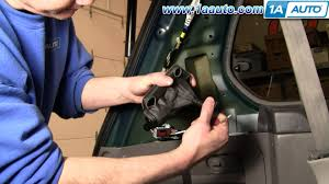 how to install replace rear vent window motor honda odyssey 99 04