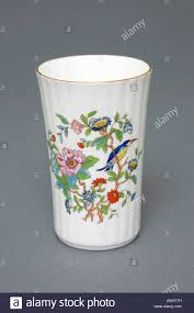 aynsley fine english bone china vase 18th century design stock
