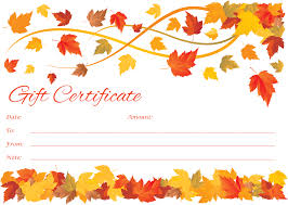customizable spring to fall gift certificate template