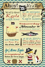 pirate baby shower invitation for boys invitation pirate