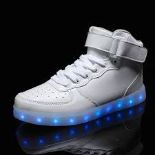 light up shoes charger free shipping unisex high cut led light up shoes adults men women