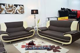 white leather 2 seater sofa 3 2 seater passero brown and cream faux leather sofa suite settee