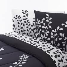 college bedding girls black with white vines college classic twin xl 3 piece sheet set