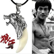 mens wolf tooth necklace images Korean movie bruce lee men style titanium steel classic wolf tooth jpg