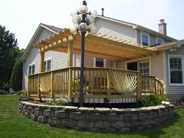 Pergola Corner Designs by Deck Corner Pergola Deck Design And Ideas